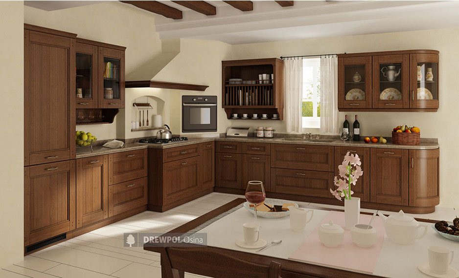 Meble Kuchenne Z Frontami Drewnianymi Drewpol Osina